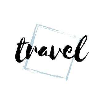 Tipografia di viaggio o logo vettoriale