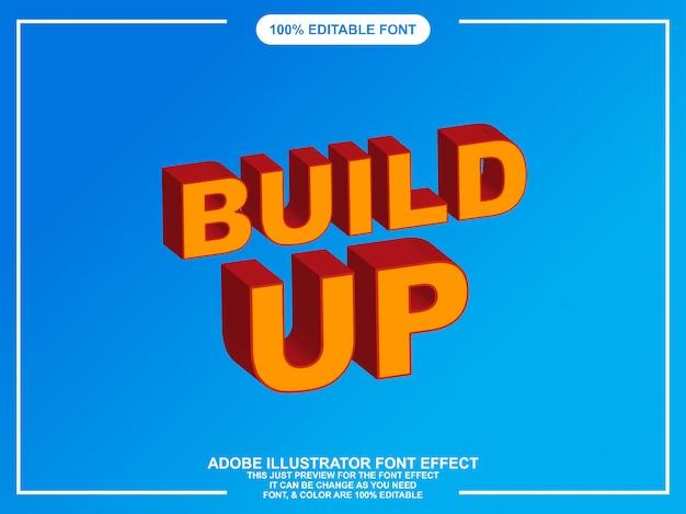 Tipografia editabile audace di illustratore di stile grafico isometrico