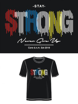 Tipografia forte per t-shirt stampata