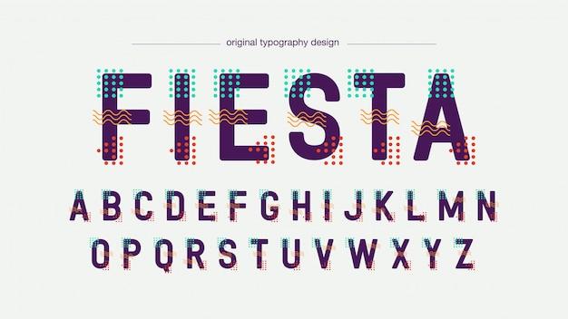 Tipografia futuristica colorata astratta
