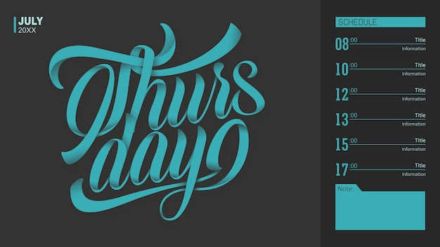 Tipografia giovedì
