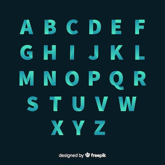 Tipografia gradiente monocromatica