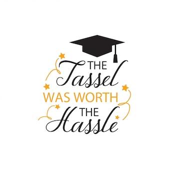 Tipografia lettering citazione di graduazione