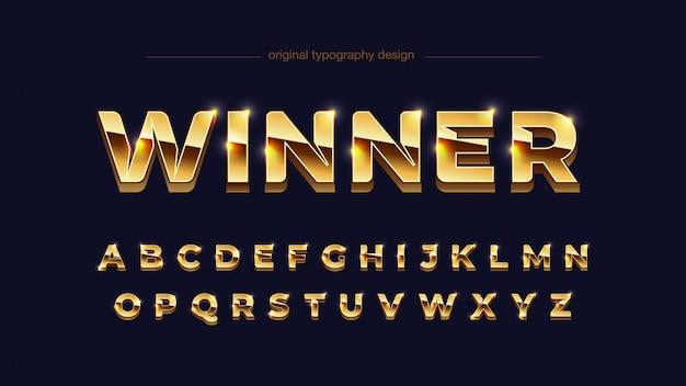 Tipografia metallica dorata di lusso