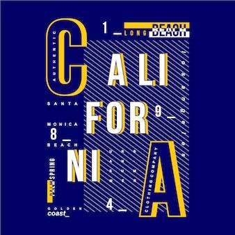 Tipografia moderna della california