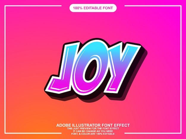 Tipografia modificabile colorata grafica stile illustratore modificabile