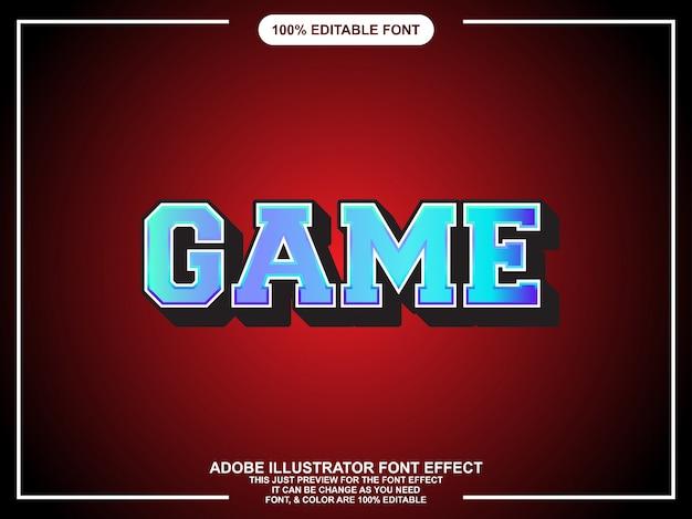 Tipografia modificabile di grafica di gioco stile illustratore
