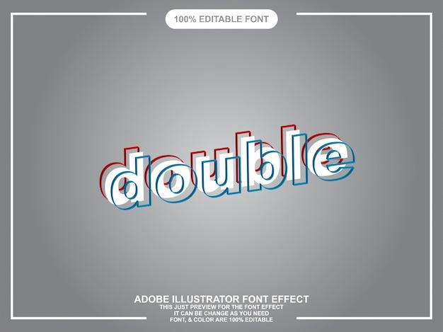 Tipografia modificabile di illustratore di stile grafico a doppio testo