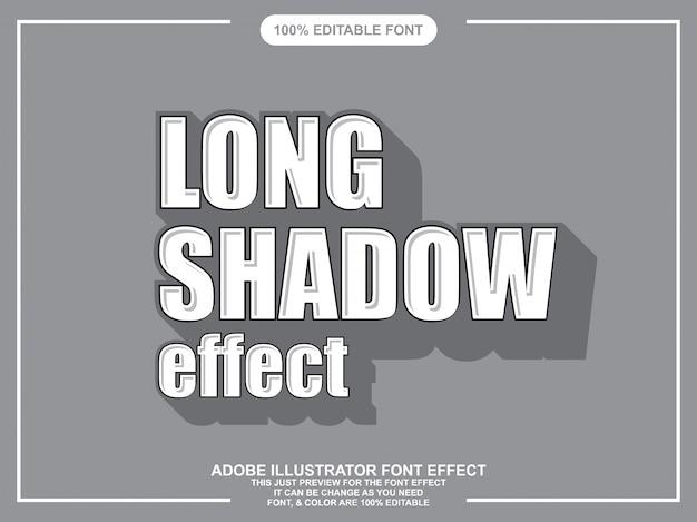 Tipografia modificabile di stile grafico di lunga ombra illustratore