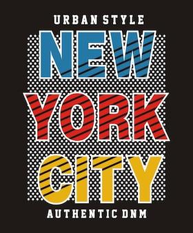 Tipografia new york city per t-shirt stampata