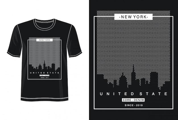 Tipografia new york per t-shirt stampata