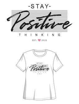 Tipografia positiva per la maglietta stampata ragazza