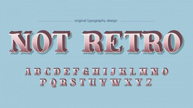 Tipografia retrò schema colori pastello