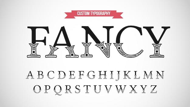 Tipografia serif display decorativo retrò