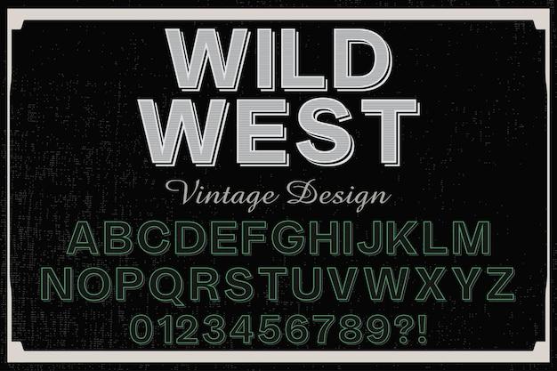 Tipografia shadow effect wild west