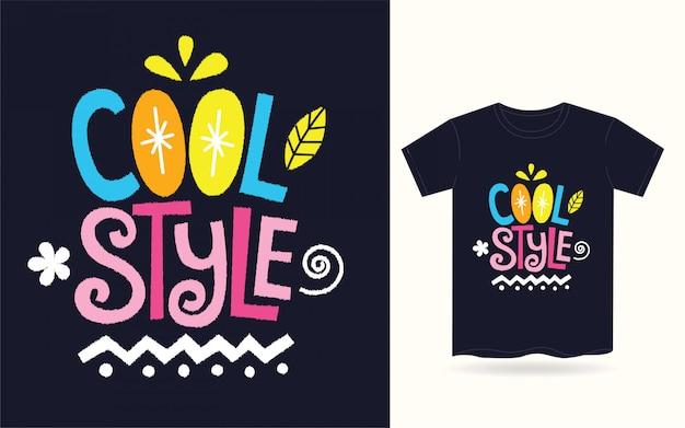 Tipografia stile cool per t-shirt