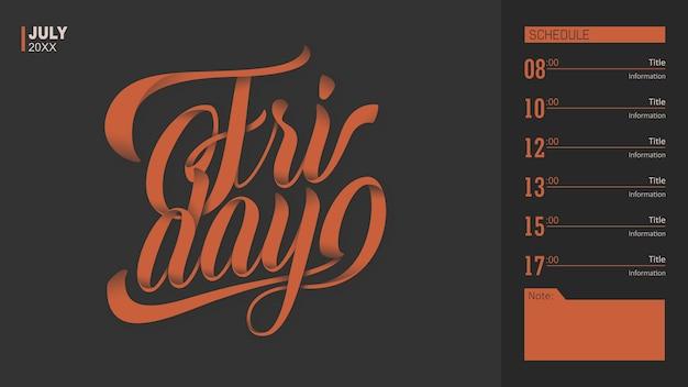 Tipografia venerdì
