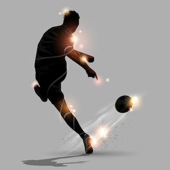 Tiro di velocità astratta di calcio