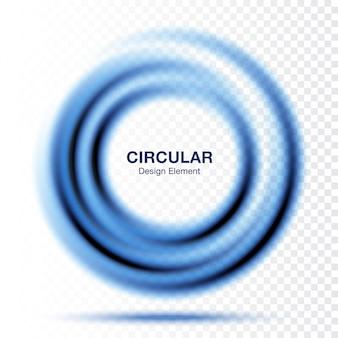 Tondo sfumato a vortice, layout di presentazione del testo. blocco per grafici blu astratto del cerchio di turbinio isolato
