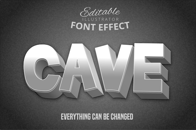 Toon text, effetto font modificabile in stile pietra 3d