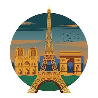 Top famoso punto di riferimento e simbolo della francia