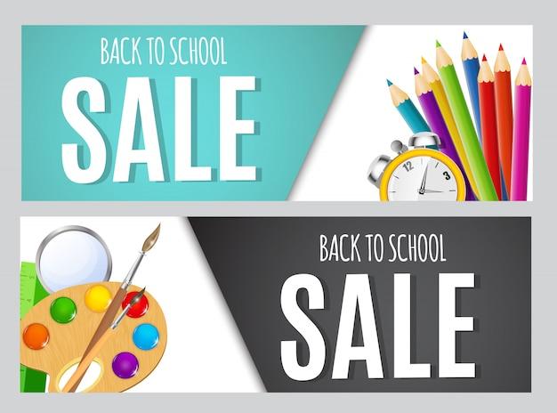 Torna a banner di vendita a scuola