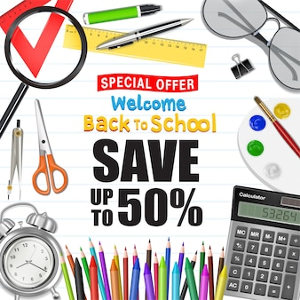 Torna a manifesto di promozione di vendita di scuola
