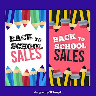 Torna a scuola banner di vendita
