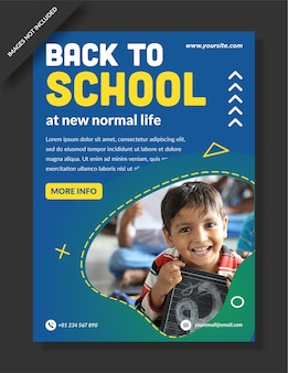 Torna a scuola banner flyer poster design