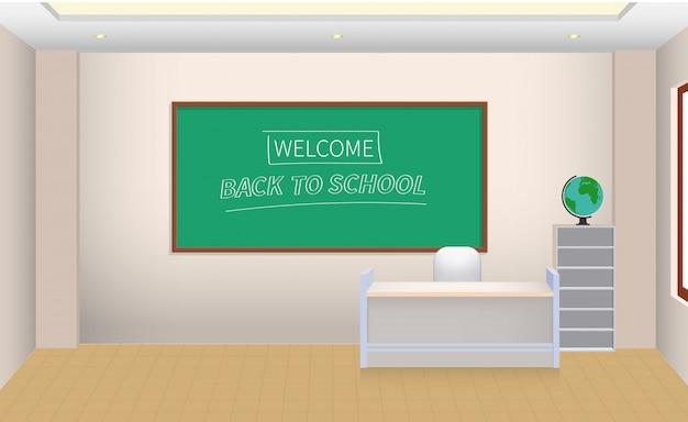 Torna a scuola banner illustrazione