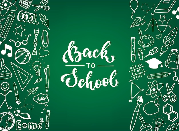 Torna a scuola banner, poster, stampa