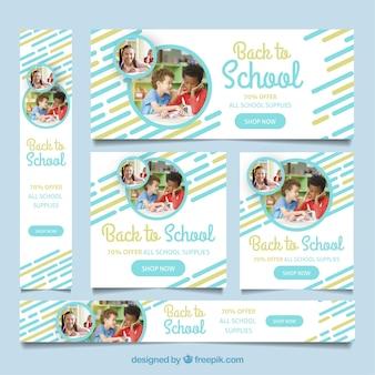 Torna a scuola banner web con raccolta di foto