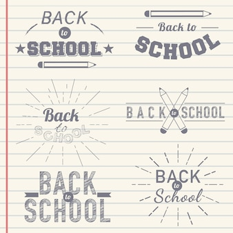 Torna a scuola distintivo