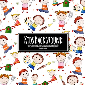 Torna a scuola happy kids background