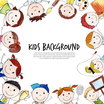 Torna a scuola happy kids background