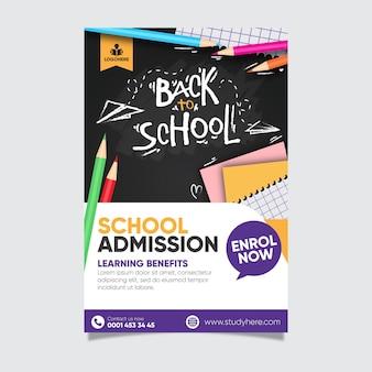 Torna a scuola poster modello di progettazione