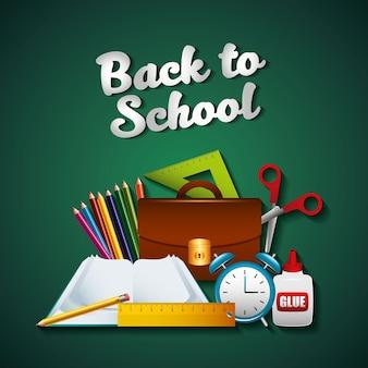 Torna a scuola set di forniture