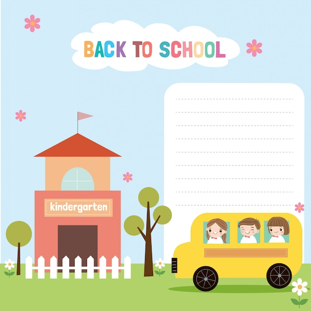 Torna a scuola sfondo illustrazione