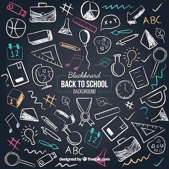 Torna a scuola sfondo in stile lavagna