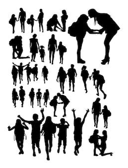 Torna a scuola silhouette