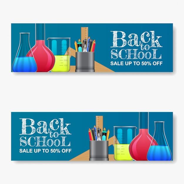 Torna a scuola vendita banner