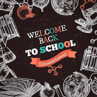 Torna a sfondo di istruzione scolastica