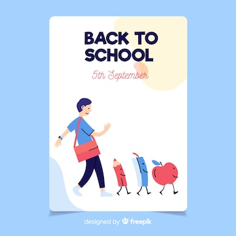 Torna al modello di carta di scuola