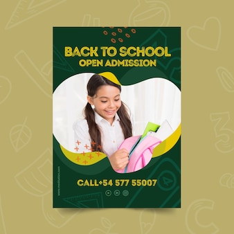 Torna al modello di poster di scuola