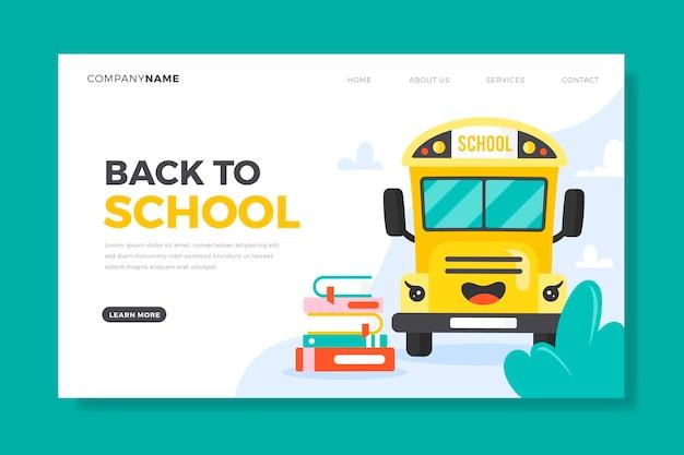 Torna al modello di scuola per landing page