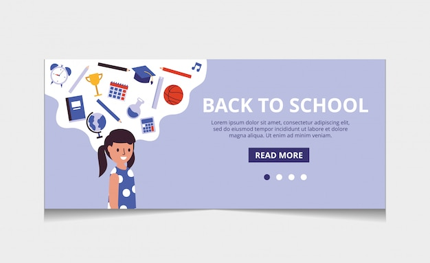 Torna al vettore della pagina di destinazione della scuola
