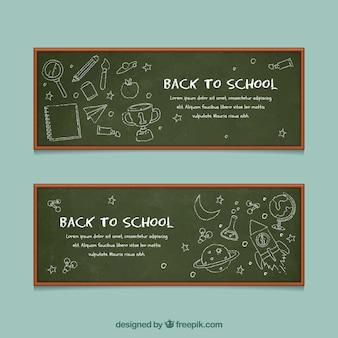Torna alla collezione di banner di scuola in stile lavagna