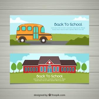 Torna alla collezione di banner scuola con bus