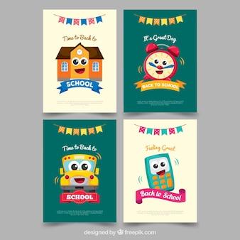 Torna alla collezione di carte scolastiche con design piatto