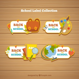 Torna alla collezione di etichette di scuola con elementi